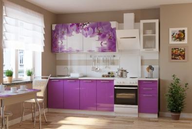 """Кухня """"Фиолетовая орхидея"""""""